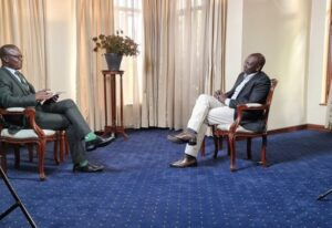 Deputy president William Ruto in an interview with Citizen's Joe Ageyo