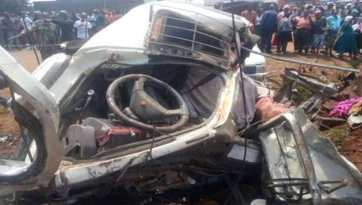 The transit good which was headed to Nakuru from Nyahururu was speeding before it lost control.