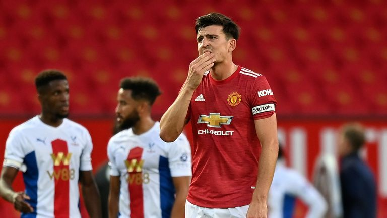 Manchester United lost 3-1 to Crystal Palace