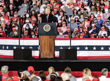 """During the campaign rally Monday night, Trump falsely claimed that """"nobody young"""" has been affected by the virus in some states."""