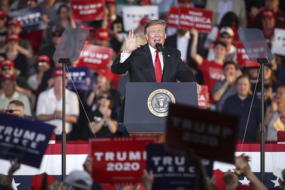 Donald Trump at a Rally in Washington urged his supporters to storm the congress.