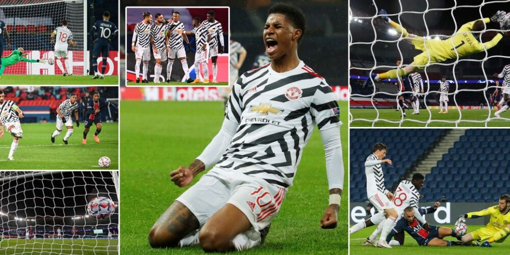Manchester win big in PSG